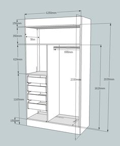 Cabinetry CAD for accurate cutting lists. Bedroom Wall Cabinets, Wardrobe Cabinet Bedroom, Bedroom Cupboard Designs, Wardrobe Design Bedroom, Wardrobe Cabinets, Wardrobe Closet, Built In Wardrobe, Closet Bedroom, Wardrobe Handles
