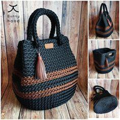 Crochet Tote, Crochet Handbags, Crochet Purses, Crochet Stitches, Crochet Patterns, Beach Crochet, Leather Tassel, Knitted Bags, Large Bags