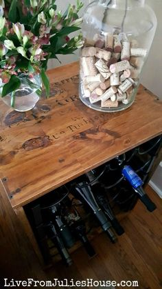 Upcycle Wine Racks into an End Table