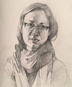 self-portrait 1.24.16 by Sarah Sedwick #drawing #sketchbook #sketch