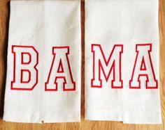 Alabama: BA-MA lino ricamato asciugamani (2)