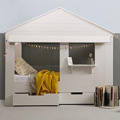 Kinder Hausbett HUISIE Haus Bett Jugendbett Bettladen Kinderbett Kiefer weiß