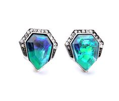 Hot Trend Fashion Jewelry Wedding Sparkling Blue Turquoise Color Stud Earrings | eBay