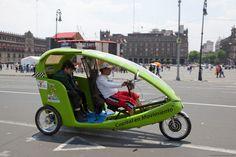 Moto taxi en el centro