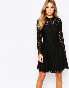 Whistles+Shirt+Dress+in+Lace