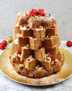 This beautiful Pandoro Christmas Cake with Pistachios and White Chocolate is the perfect show stopper that will only take you 10 minutes.