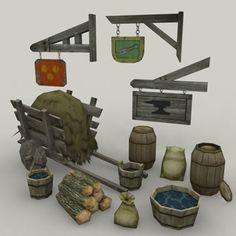 Medieval Environment 3D Model - 3D Model