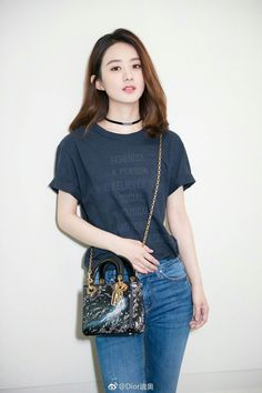 In parallel with 'I Feel Blue' Shanghai experience, the 'Dior Moon' capsule . Runway Models, Girl Pictures, Girl Photos, Runway Fashion, Fashion Tips, Fashion Design, Teen Fashion, Zhao Li Ying, Beautiful Chinese Girl