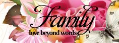 Family Love Beyond Words Facebook Cover coverlayout.com