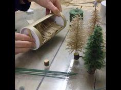 Make a mini Christmas Tree - YouTube Swedish Christmas, Mini Christmas Tree, Christmas Nativity, Xmas Tree, Christmas Holidays, Christmas Ornaments, Christmas Crafts To Make, Christmas Projects, Holiday Crafts