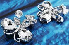 Butterfly Crystal Rhinestone Brooch Pin