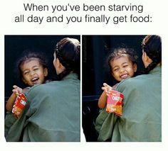 Me vs food North West
