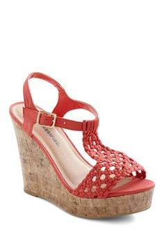 These would be cute with just about anything!    Party on the Peninsula Wedge, #ModCloth