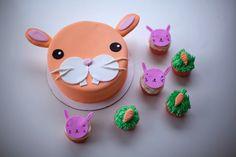 Hip Hop: Bunny Cake + Pink Cupcake Buddies   Coco Cake Land