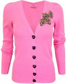 .Pink Perfection~~~Cute Sweater for Fall & Winter. I bet its Betsy Johnson. Her clothes are always adorable like this