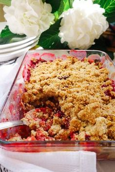 Blackberry & Toffee Apple Crumble - The Londoner