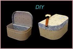 Maletín de carton, organizador maquillaje, costurero...DIY