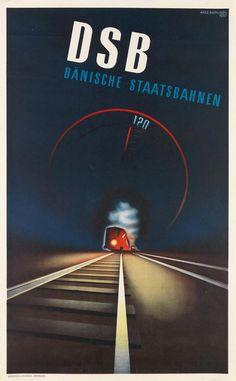DSB - Danische Staatsbahnen - 1937 - (Aage Rasmussen) - Danemark -