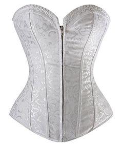 Kimring Women's Vintage Steel Boned Jacquard Strapless Body Shaper Wedding Bride Corset Zipper White Small Kimring http://www.amazon.com/dp/B00PNHC6CK/ref=cm_sw_r_pi_dp_4S4Xvb1W9HBPQ