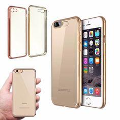 For iPhone 7/7 Plus Ultra Slim Clear Soft TPU Gel Shockproof Back Case Cover Skin