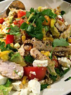 Ruokapankki: Kvinoa-kanasalaatti meksikon vivahteella