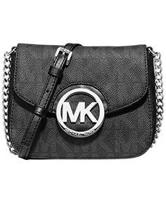 a072b8b4f7 Michael Michael Kors Signature Fulton Small Cross-body Bag  Handbags  Amazon .com
