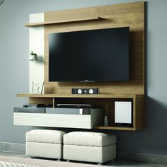 Home Para Tv, Painel Home, Hanging Tv On Wall, Tv Unit Decor, Bedroom False Ceiling Design, Retail Companies, Tv Unit Design, River Park, Tv Cabinets