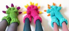 ($) Monster Slippers Crochet Pattern
