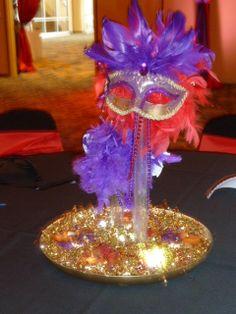 Masquerade Centerpiece Masquerade Party Decorations, Masquerade Wedding, Masquerade Theme, Mardi Gras Decorations, Halloween Masquerade, Masquerade Ball, Movie Invitation, Quinceanera Centerpieces, Masquerades