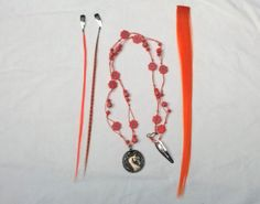 Cool Horse Color Set in Orange  Necklace Mane by MyBuddyBling, $15.00