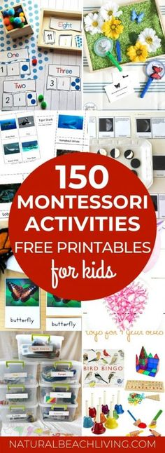 Amazing Montessori Activities and Free Printables - Natural Beach Living Montessori Kindergarten, Montessori Books, Montessori Practical Life, Montessori Preschool, Montessori Education, Preschool Ideas, School Age Activities, Toddler Activities, Sensory Activities