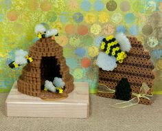 Make these sweet beehive creations with Perler Beads! You can create a flat beehive and one in 3-D along with bees in two different sizes. These are cool decorations for your table and refrigerator (magnets are optional).