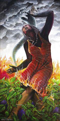 """""""Oya dances in fire as if the fire is dress. """""""