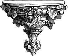 **FREE ViNTaGE DiGiTaL STaMPS**: Architectural Ornate Wall Shelf