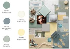 Coastal Palette- Color Trends 2013 by Benjamin Moore - Cooler palette than I think were looking for but its inspiration