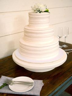 Ask your baker to mimic your cake stand's design on the frosting or fondant for a seamless presentation.