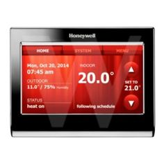 Honeywell Voice Controlled Thermostat, Control your heating temperature with voice commands.
