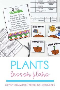 Science in preschool is fun! Teach children all about plants in this fun spring time thematic unit. Lesson plans and printable activities included. Perfect for preschool and pre-k! Preschool Writing, Preschool Lesson Plans, Writing Activities, Teaching Kids, Kids Learning, Early Reading, Thematic Units, Spring Theme, Early Literacy