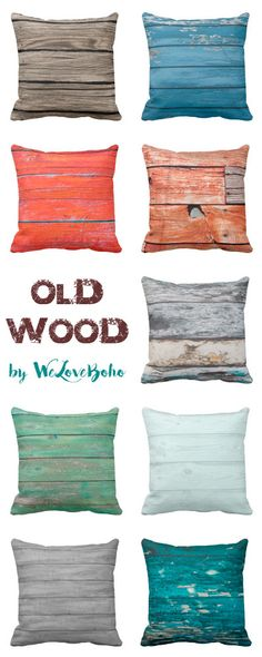 Old Wood pillows