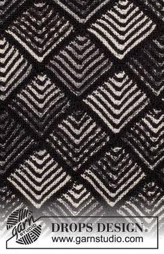 """Checkmate Cardigan - Gestrickte DROPS Jacke in """"Fabel"""" und """"Alpaca"""" mit Dominoquadraten und Raglanärmeln. Größe S - XXXL. - Free pattern by DROPS Design"""