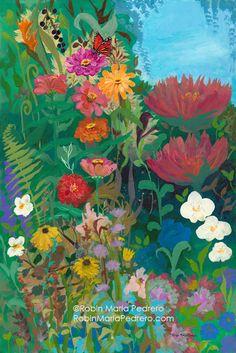 Robin Maria Pedrero Blog: Zinnias Garden with Monarch Butterfly