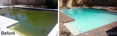 Green to clean renovation  www.wattersaquatech.com, www.houzz.com/pro/dustinh2o/watters-aquatech-pools-spas, http://www.facebook.com/wattersaquatech