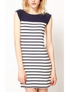 Party Dresses,Sexy Dresses, Sundresses and More Online Shop, Search Cichic New Trend Dress, Sexy Dresses, Short Sleeve Dresses, Pretty Dresses, Style Noir, Sailor Fashion, Fashion Black, Daily Dress, Black White Stripes