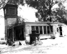 Home of Calvin Phillips at 815 S. Macomb Street in Tallahassee, including the clock tower (circa 1960s).