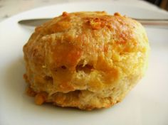 Cheddar Cheese Scones-  I'm thinking a few finely diced pickled jalapenos would be good too.