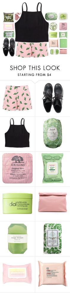 """P I N K k k"" by abbeyso ❤ liked on Polyvore featuring American Retro, Ash, Aéropostale, Fresh, Origins, Burt's Bees, Rodial, MAC Cosmetics, Marie Turnor and Pelle"