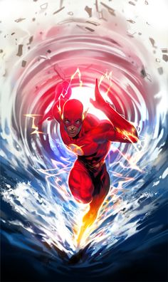 Justice League Illustrations by Kim Intae | Flash #DC #Flash