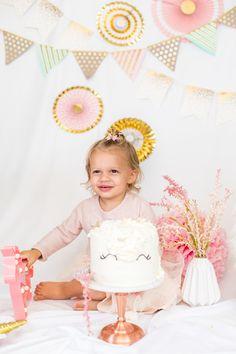 Unicorn Cake Smash Session GirlBirthday Smash2 Year Old