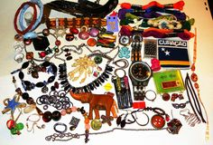 vintage antique collection lot jewelry Watch repair repurpose * CHEAP SHIPPING * #mixed