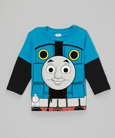 Take a look at this Blue Thomas Character Layered Tee - Toddler by Thomas & Friends on #zulily today!
